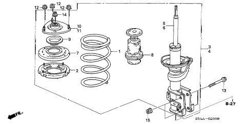 2006 cr-v EX(2WD) 5 DOOR 5AT FRONT SHOCK ABSORBER diagram