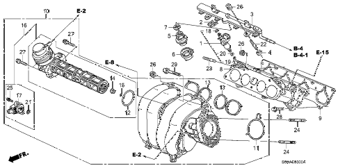 2006 cr-v EX(2WD) 5 DOOR 5AT INTAKE MANIFOLD diagram