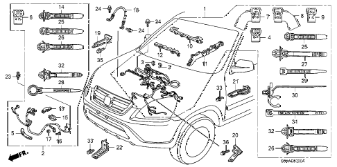 2006 cr-v EX(2WD) 5 DOOR 5AT ENGINE WIRE HARNESS diagram