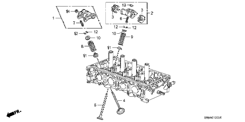 2006 cr-v EX(2WD) 5 DOOR 5AT VALVE - ROCKER ARM diagram