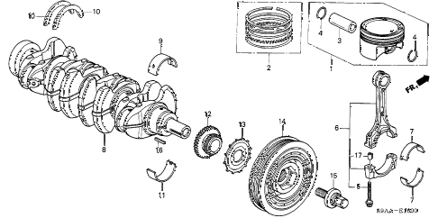 2006 cr-v EX(2WD) 5 DOOR 5AT PISTON - CRANKSHAFT diagram