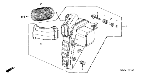2005 element LX(4WD) 5 DOOR 5MT RESONATOR CHAMBER diagram