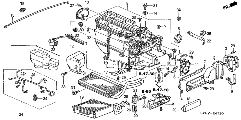 2006 element EX-P(4WD,SD A/B) 5 DOOR 5MT HEATER UNIT diagram