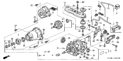 2004 element EX(4WD,SD A/B) 5 DOOR 5MT REAR DIFFERENTIAL - MOUNT diagram