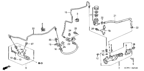 2006 element EX-P(4WD,SD A/B) 5 DOOR 5MT CLUTCH MASTER CYLINDER diagram