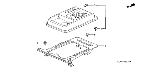 2004 element EX(2WD,SD AIR BAG 5 DOOR 5MT CONSOLE diagram