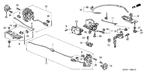 2006 element EX-P(2WD,SD AIR BAG 5 DOOR 5MT TAILGATE LOCK diagram