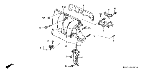 2006 element EX-P(4WD,SD A/B) 5 DOOR 5MT INTAKE MANIFOLD diagram