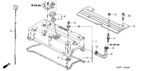 2004 element EX(4WD,SD A/B) 5 DOOR 5MT CYLINDER HEAD COVER diagram