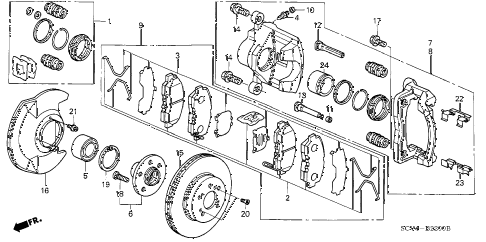 2006 element EX-P(4WD,SD A/B) 5 DOOR 5MT FRONT BRAKE (DISK) diagram