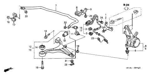 2006 element EX-P(4WD,SD A/B) 5 DOOR 5MT FRONT KNUCKLE - FRONT LOWER ARM diagram