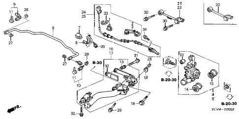 2005 element EX(2WD,SD AIR BAG 5 DOOR 5MT REAR LOWER ARM diagram