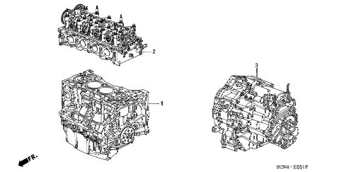 2006 element EX-P(2WD,SD AIR BAG 5 DOOR 5MT ENGINE ASSY. - TRANSMISSION ASSY. diagram