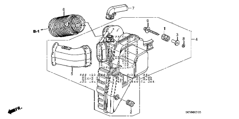 2008 element SC 5 DOOR 5MT RESONATOR CHAMBER diagram