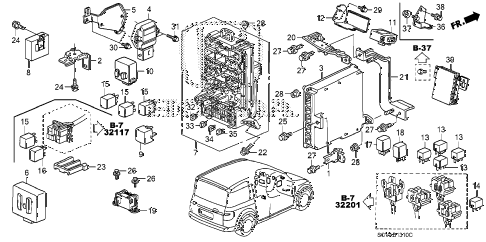 2007 element LX(4WD) 5 DOOR 5MT CONTROL UNIT (CABIN) diagram
