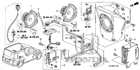 2008 element SC 5 DOOR 5MT RADIO ANTENNA - SPEAKER (2) diagram