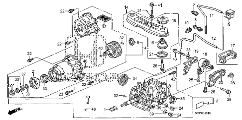 2008 element LX(4WD) 5 DOOR 5MT REAR DIFFERENTIAL - MOUNT diagram
