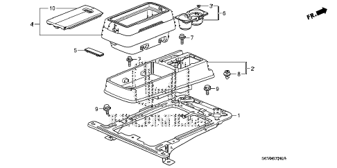 2009 element EX(4WD) 5 DOOR 5MT CONSOLE (3) diagram