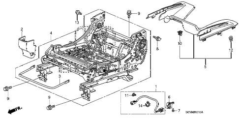2007 element LX(4WD) 5 DOOR 5MT FRONT SEAT COMPONENTS (L.) diagram