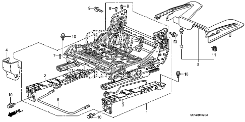 2009 element EX(2WD) 5 DOOR 5MT FRONT SEAT COMPONENTS (R.) diagram