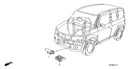 2009 element EX(2WD) 5 DOOR 5MT A/C SENSOR diagram