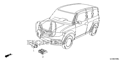 2010 element EX(4WD) 5 DOOR 5MT A/C SENSOR diagram