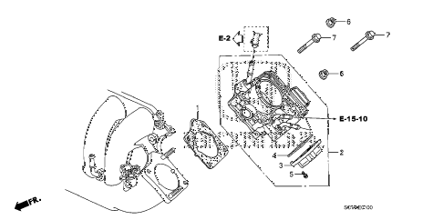 2007 element SC 5 DOOR 5MT THROTTLE BODY diagram