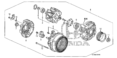 2010 element EX(4WD) 5 DOOR 5MT ALTERNATOR (DENSO) diagram
