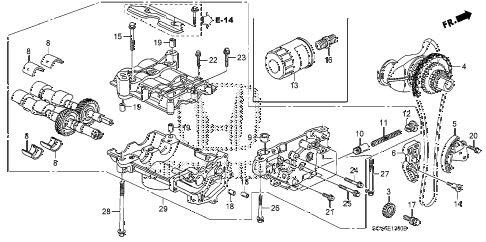 2009 element SC 5 DOOR 5MT OIL PUMP diagram