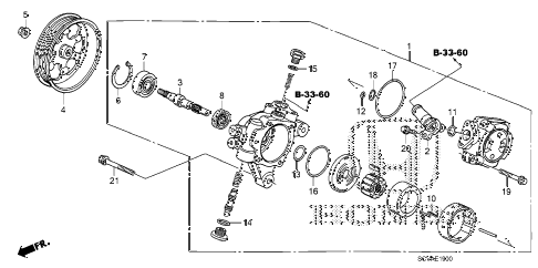 2007 element EX(4WD) 5 DOOR 5MT P.S. PUMP diagram