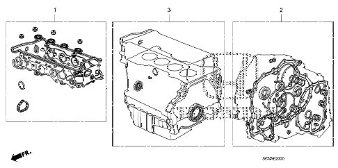 2008 element LX(4WD) 5 DOOR 5MT GASKET KIT diagram