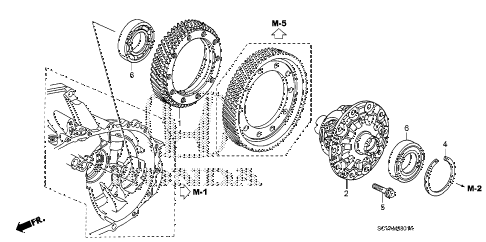 2007 element EX(4WD) 5 DOOR 5MT MT DIFFERENTIAL (4WD) diagram