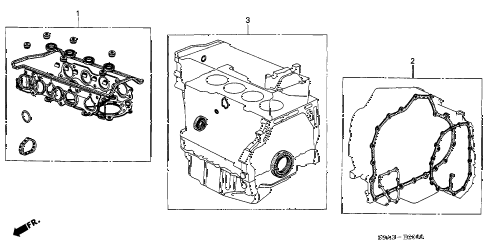 2005 accord DX 4 DOOR 5MT GASKET KIT (L4) diagram
