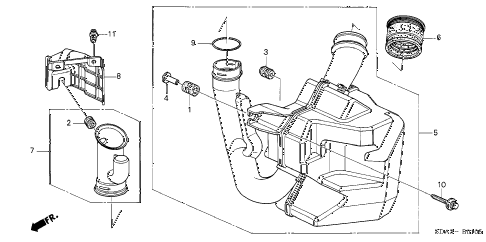 2005 accord DX 4 DOOR 5MT RESONATOR CHAMBER (L4) diagram