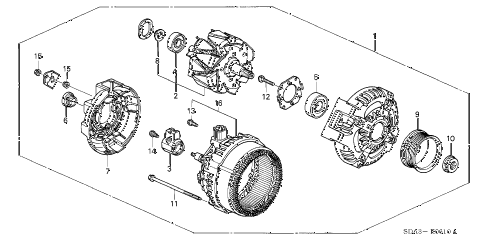 2005 accord DX 4 DOOR 5MT ALTERNATOR (DENSO) (L4) diagram