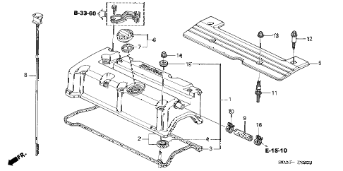 2006 accord EX 4 DOOR 5MT CYLINDER HEAD COVER (L4) diagram