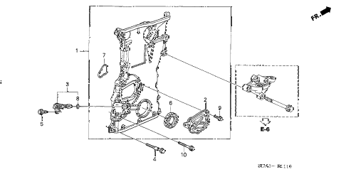 2006 accord EXL 4 DOOR 5MT CHAIN CASE (L4) diagram