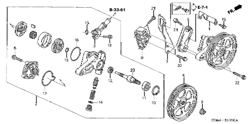2004 accord EX(V6) 4 DOOR 5AT P.S. PUMP - BRACKET (V6) diagram