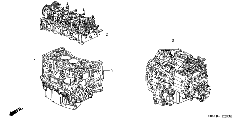 2006 accord EXL 4 DOOR 5MT ENGINE ASSY. - TRANSMISSION ASSY. (L4) diagram
