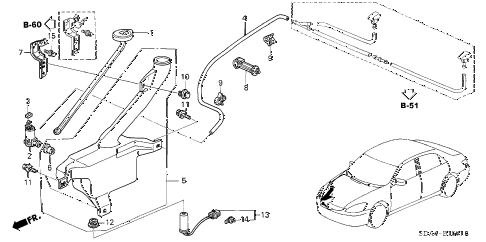 2004 accord LX 4 DOOR 5MT WINDSHIELD WASHER (2) diagram