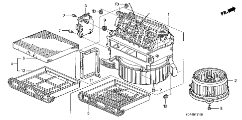 2006 accord SE 4 DOOR 5MT HEATER BLOWER diagram