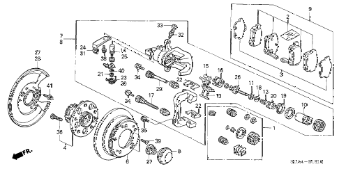 2006 accord EXL 4 DOOR 5MT REAR BRAKE (DISK) diagram