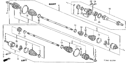 2004 accord LX 4 DOOR 5MT DRIVESHAFT (L4) (MT) diagram