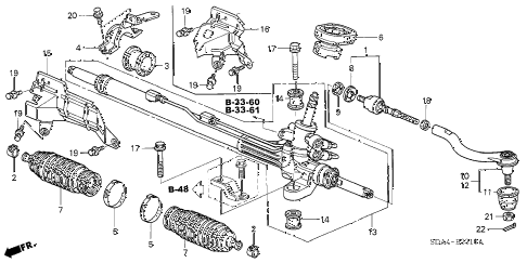2006 accord EX 4 DOOR 5MT P.S. GEAR BOX (1) diagram