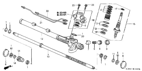 2005 accord LX 4 DOOR 5MT P.S. GEAR BOX COMPONENTS (1) diagram