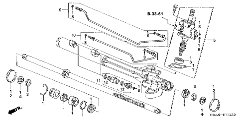 2006 accord EX(V6 NAVI) 4 DOOR 6MT P.S. GEAR BOX COMPONENTS (2) diagram