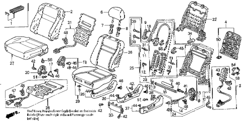 2006 accord EX(V6 NAVI) 4 DOOR 6MT FRONT SEAT (L.) diagram