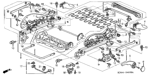 2004 accord LX 4 DOOR 5MT FRONT SEAT COMPONENTS (L.) (MANUAL HEIGHT) diagram