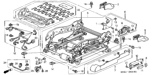 2006 accord EXL 4 DOOR 5MT FRONT SEAT COMPONENTS (L.) (FULL POWER SEAT) diagram