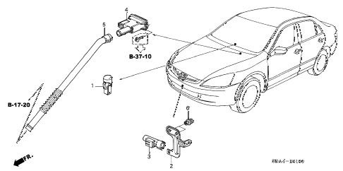 2006 accord EX(V6 NAVI) 4 DOOR 6MT A/C SENSOR diagram